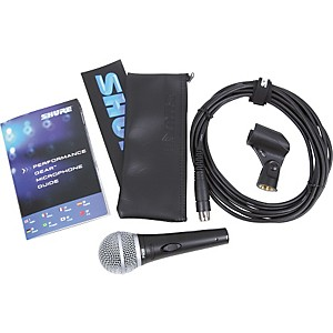 Shure-PG58-QTR-Dynamic-Microphone-with-XLR-to-1-4--Phone-Mic-Cable-Standard