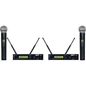 Shure-ULXP24D-58-Dual-Handheld-Wireless-Microphone-System-M1