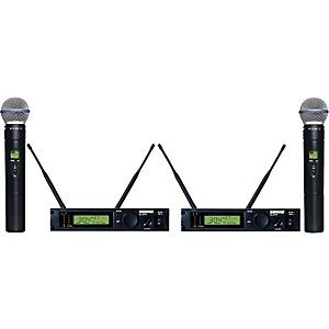 Shure-ULXP24D-BETA58-Dual-Handheld-Wireless-Microphone-System-J1