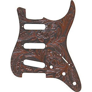 El-Dorado-Hand-Tooled-Strat-Pickguard-Brown
