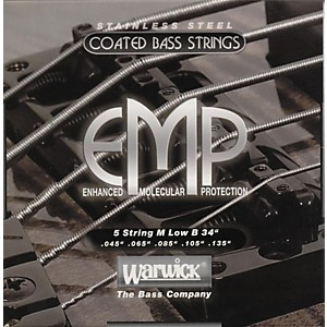 Warwick-M5B-EMP-COATED-5-String-Bass-Strings-Medium-Standard