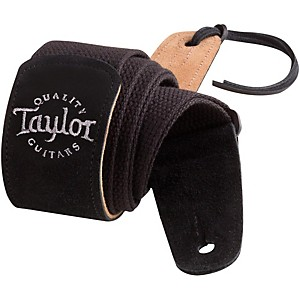 Taylor-Cotton-Guitar-Strap-with-Suede-Ends-Black