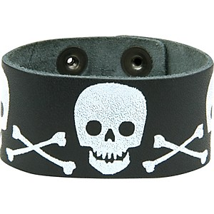 Perri-s-Leather-Bracelet-with-Screened-Skulls-Standard