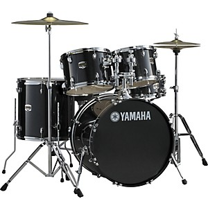 YAMAHA-Gigmaker-5-Piece-Standard-Shell-Pack-with-22--Bass-Drum-Black-Glitter
