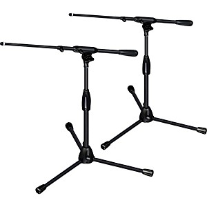 Ultimate-Support-PRO-T-SHORT-T-Pkg-tripod-base-telescoping-boom-short-height-2-Pack-Standard