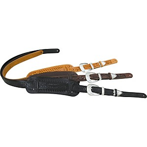 El-Dorado-Tooled-Leather-Guitar-Strap-Black