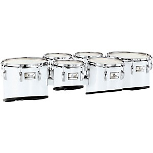 Pearl-Championship-Marching-Sextet-Tom-Set-6--8--10--12--13--14--26-Brushed-Silver-6-X-8