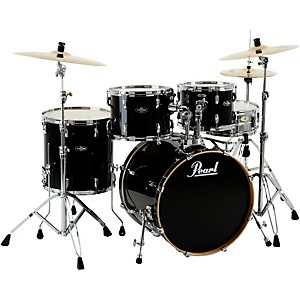 Pearl-VBL-Vision-Birch-5-Piece-Shell-Pack-Black-Ice-with-Chrome-Hardware