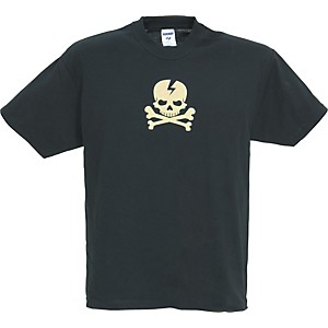 Gear-One-Cream-Skull--n--Bones-T-Shirt-Black-Extra-Extra-Large