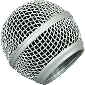 Musician-s-Gear-Mesh-Microphone-Grille-Silver-Fits-Sm-58
