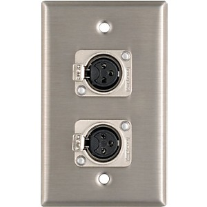 Pro-Co-WP1013-Dual-XLR-Female-Wall-Plate-Standard