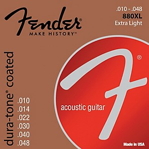 Fender-880XL-Coated-80-20-Bronze-Acoustic-Guitar-Strings---Extra-Light-Standard