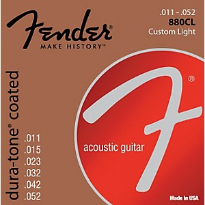 Fender-880CL-Coated-80-20-Bronze-Acoustic-Guitar-Strings---Custom-Light-Standard