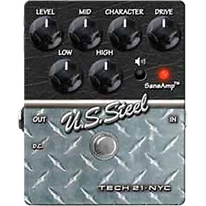Tech-21-SansAmp-Character-Series-U-S--Steel-Distortion-Guitar-Effects-Pedal-Standard