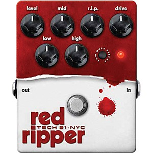 Tech-21-Red-Ripper-Distortion-Bass-Effects-Pedal-Standard