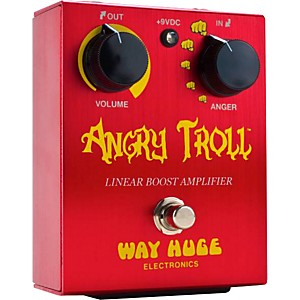 Way-Huge-Electronics-WHE101-Angry-Troll-Boost-Guitar-Effects-Pedal-Red