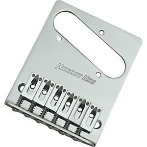 Hipshot-Stainless-Steel-Tele-Bridge-3-Hole-Mount-With-Standard-Saddles-Chrome