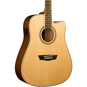 Washburn-WD-10SCE-Cutaway-Acoustic-Electric-Guitar-Natural