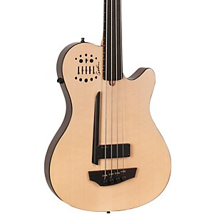 Godin-A4-Ultra-Natural-Fretless-SA-Acoustic-Electric-Bass-Guitar-Natural-Ebony-Fretboard