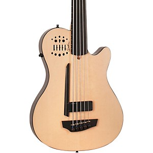 Godin-A5-Ultra-Bass-Fretless-SA-5-String-Acoustic-Electric-Bass-Guitar-Natural-Ebony-Fretboard