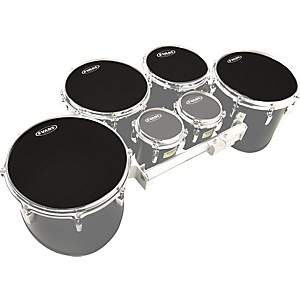 Evans-MX-Black-Tenor-Drumhead-4-Pack-Standard