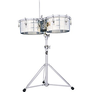 LP-LP257-S-Tito-Puente-14--and-15--Stainless-Steel-Timbales-Standard