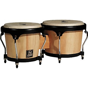 LP-LPA601-Aspire-Oak-Bongos-with-Black-Hardware-Dark-Wood