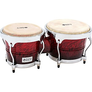 LP-LPP601-Performer-Series-Bongos-Red-Fade-Chrome-Hardware