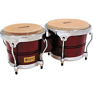 LP-LPP601-Performer-Series-Bongos-Dark-Wood-Chrome-Hardware