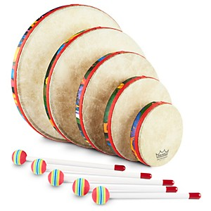 Remo-Kid-s-Percussion-Rain-forest-Hand-Drum-Set-Standard