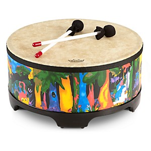 Remo-Kid-s-Percussion-Rain-forest-Gathering-Drum-16X8-Inches