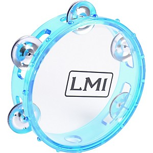 LMI-Transparent-Tambourine-with-Head-Blue-15CM
