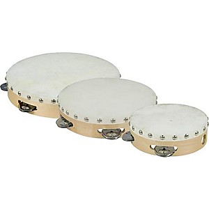 Cannon-Percussion-Single-Row-Tambourine-10-Inches