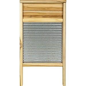 Columbus-Washboard-3020-Galvanized-Washboard-Teak-12-7-16x23-3-4-Inches
