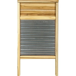 Columbus-Washboard-3010-Spiral-Metal-Washboard-Teak-12-7-16x23-3-4-Inches