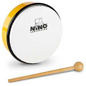 Nino-Hand-Drum-with-Beater-Yellow-6-Inches
