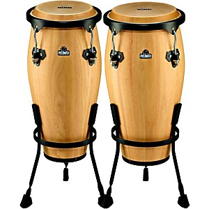 Nino-NINO910-Wood-Conga-Set-with-Stands-Natural