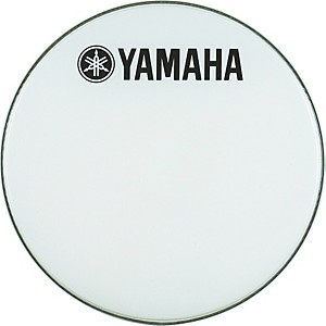 Yamaha-Marching-Bass-Drum-Head-with-Fork-Logo-White-18-Inches
