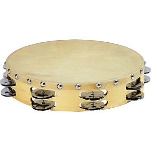 Sound-Percussion-PDM2016M-R-Tambourine-with-Calfskin-Head-10-Inches