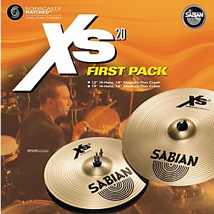 Sabian-Xs20-First-Pack---13--Hi-Hats-and-16--Crash-Cymbal-Standard