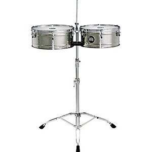 Meinl-Luis-Conte-Stainless-Steel-Timbales-Standard