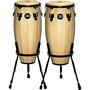 Meinl-Headliner-Conga-Set-with-Basket-Stand-Natural