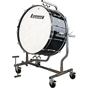Ludwig-Concert-Bass-Drum-Mounted-for-LE788-Stand-16x36-Black-Cortex