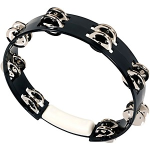 RhythmTech-True-Colors-Tambourine-Black-10-inch