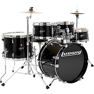 Ludwig-Junior-Outfit-Drum-Set-Black