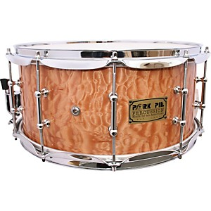 Pork-Pie-Solid-Quilted-Maple-Snare-Drum-7X14-Clear-Lacquer