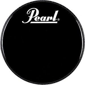 Pearl-Logo-Front-Bass-Drumhead-Black-20-Inch