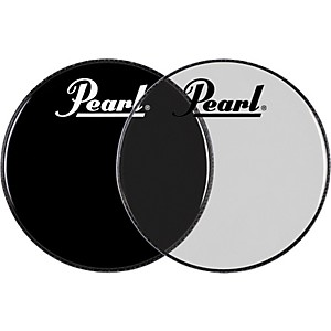 Pearl-Logo-Front-Bass-Drum-Head-Clear-22-Inch