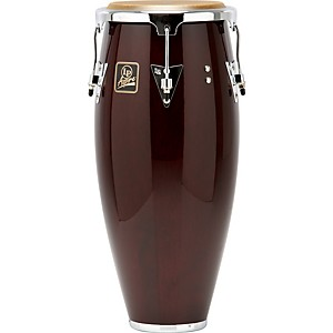 LP-Aspire-Wood-Conga-Chrome-Hardware-10-inch-Quinto-Dark-Wood