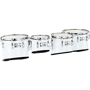 Pearl-Championship-Quad-Tom-Set-10---12---13---14--Pure-White